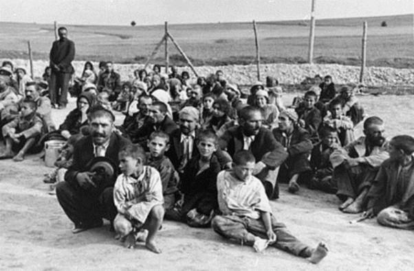 Arhivska fotografija Roma u koncentracionom logoru Belzek