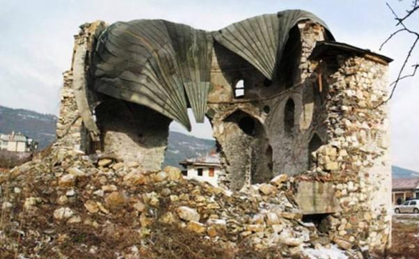 Ostaci džamije Mehmed-paše Kukavice u Foči
