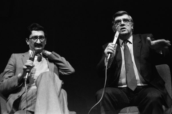 Перо Зубац и Бане Вукашиновић, СПЕНС, Нови Сад, 1982. год. ФОТО: Владимир Зубац