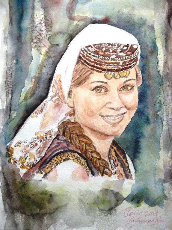 My art- Bosnian Azra by Nazif Nasko Tatić, Richmond, Virginia, USA
