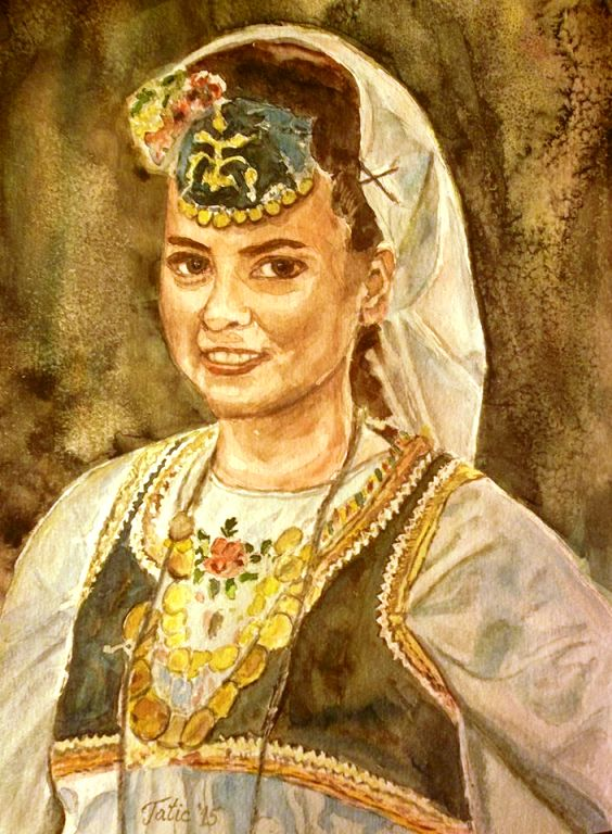 My art - Bosnian sevdah lady by Nazif Nasko Tatić, Richmond, Virginia, USA