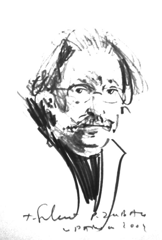 Перо Зубац; аутор портрета: Томислав Сухецки