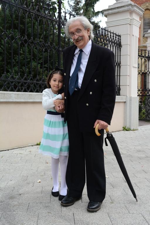 Pero Zubac sa unukom Milenom. FOTO: Vladimir Zubac, 2015. godina