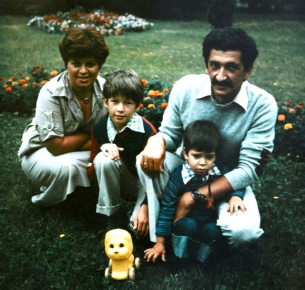 Dragana, Vladimir, Miloš i Pero Zubac, 1978. godina