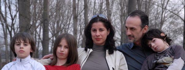 Milja Vrsajkov sa porodicom