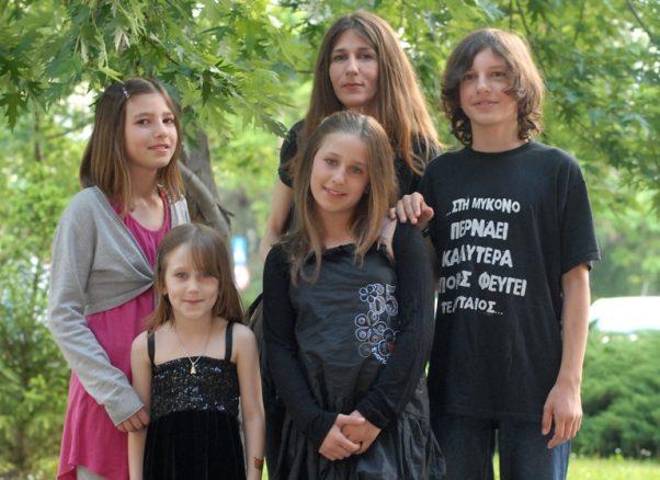 Milica Nikolić sa porodicom