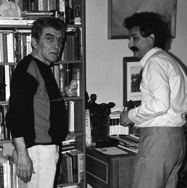 Miroslav Antić i Pero Zubac. FOTO: Vladimir Zubac, maj 1983.