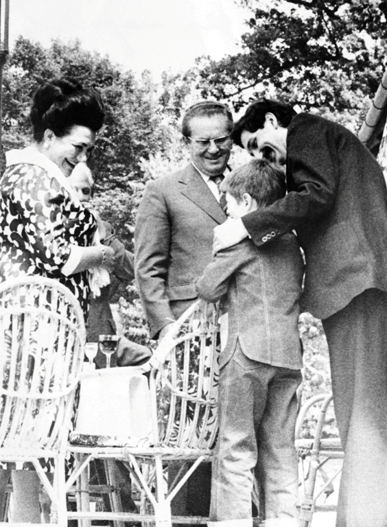 Jovanka, Tito, Vladimir i Pero Zubac, Vila Ravne 1977. godina