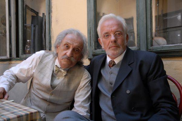 Sa snimanja filma Doba Dunđerskih: Pero Zubac i Miodrag Petrović FOTO: Vladimir Zubac, 2013.